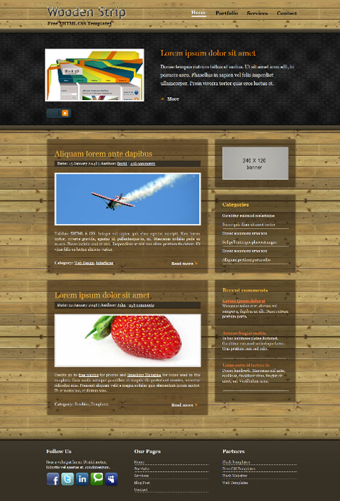 free website layout