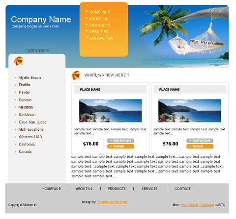free web template - your travel