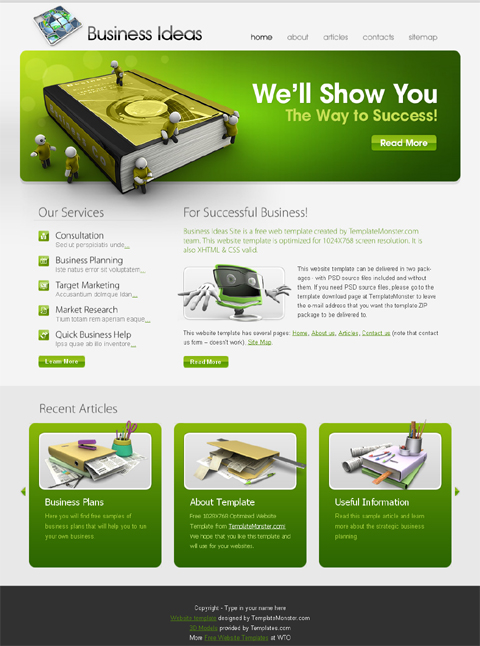 free business web template