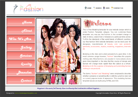 Free Web Templates for Fashion Blogs | Website Templates Blog