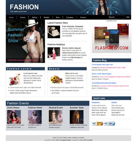 Free Web Templates for Fashion Blogs Website Templates Blog hyeFUUdS