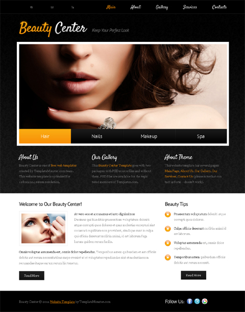 Free Templates to Build Beauty Websites   Website Templates Blog