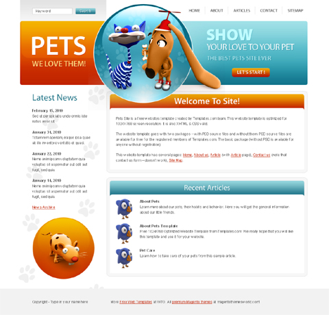 website template for free