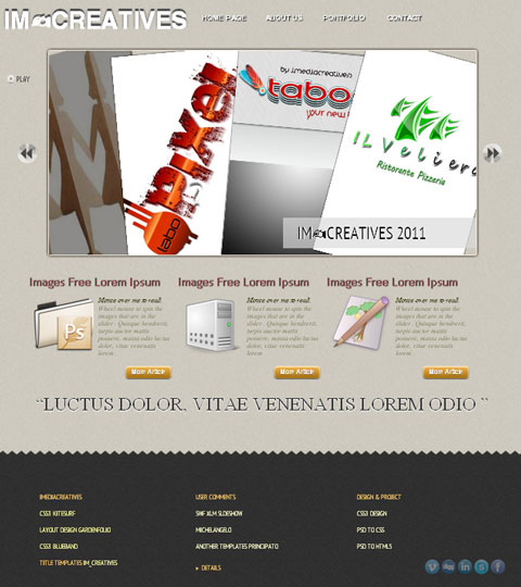 free HTML5 website template