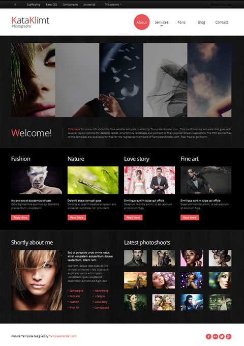 Photography Site with Free Bootstrap Responsive Template | Website ...: www.websitetemplatesonline.com/blog/2012/11/free-responsive...