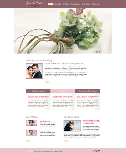 Free-Website-Template-for-Wedding-Site